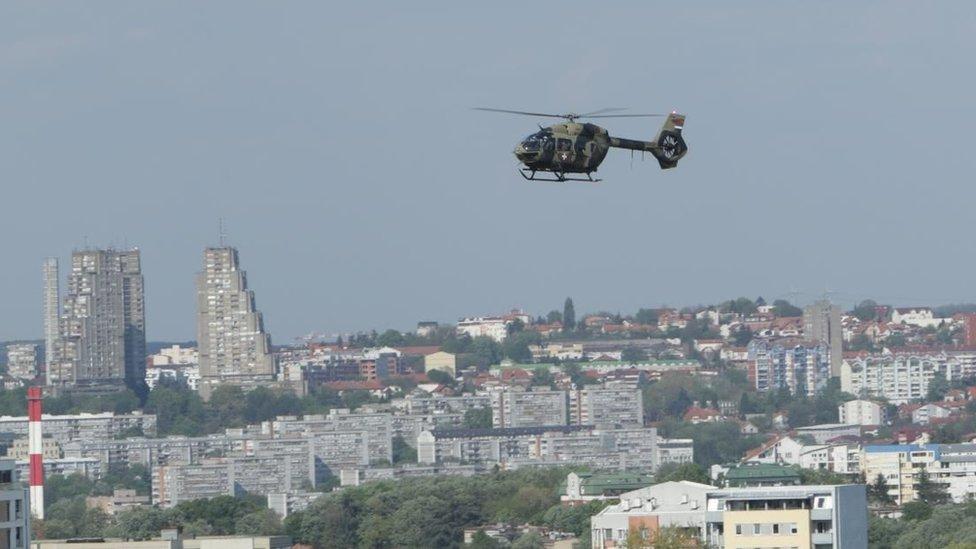 Helikopter iznad Beograda