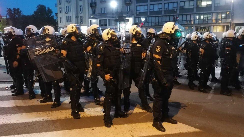 Policijski kordon u Beogradu