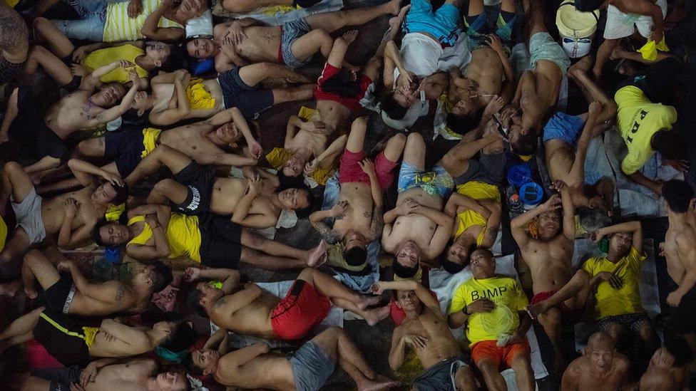 Prison inmates at Quezon City jail