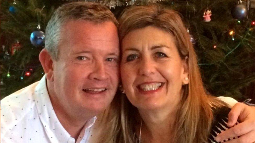 Jonathan Taylor and his wife Cindy
