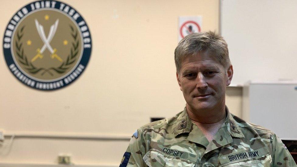 British Major General Kev Copsey