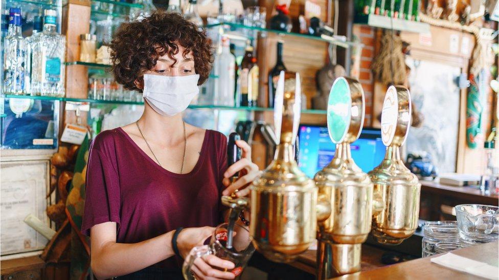 A pub worker