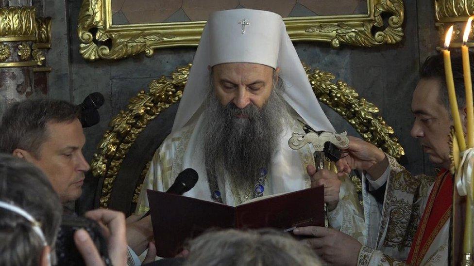 patrijarh Porfirije, crkva