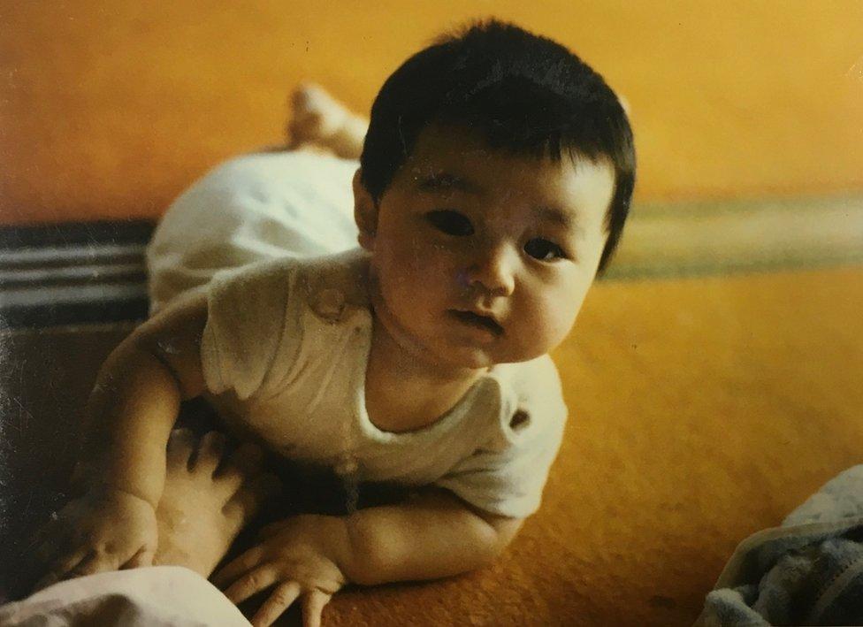 Koichiro Iizuka pictured as a baby
