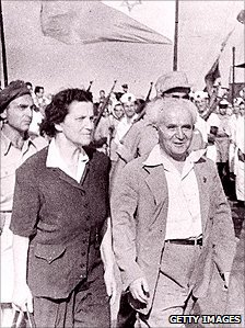 David Ben Gurion and his wife soon after the state of Israel was proclaimed in 1948