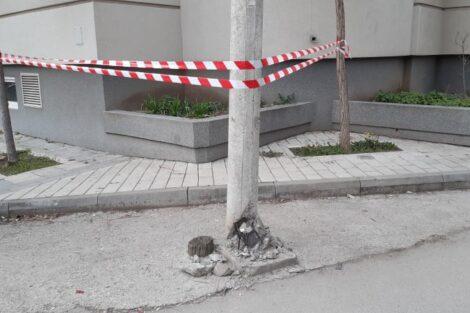 oštećen stub