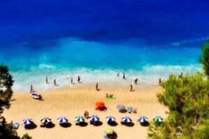grčka plaža letovanje